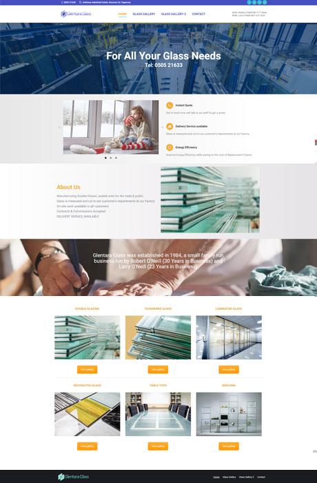 Glentara-Glass-Website-design